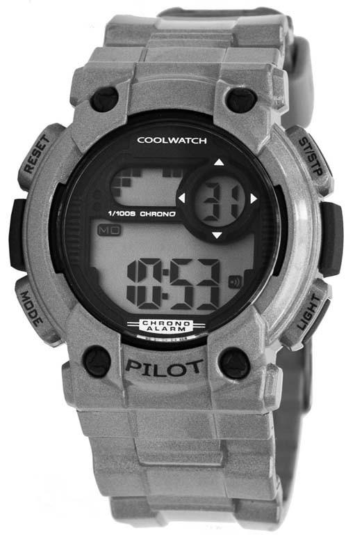 Coolwatch kinderhorloge 'Pilot' digitaal grijs CW.277