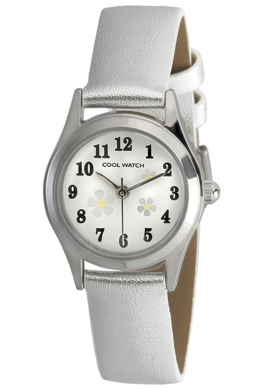 Coolwatch kinderhorloge 'Little Flower' zilverkleurig CW.200