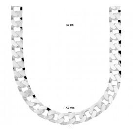 TFT Zilveren Ketting Gourmet 7,5 mm 60 cm