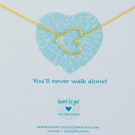Heart to get N35BHE12G You'll never walk alone ketting goud