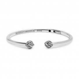 Buddha to Buddha 011WZ Armband Refined Katja Bangle zilver met zirconia (C+)-1