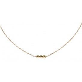 Glow Gouden Collier met Hanger, 3 Balletjes 40+2cm 202.2040.42