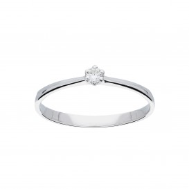Glow 214.3005.56 Ring witgoud met briljant 1-0.05ct G/si