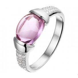 TFT Ring Amethyst En Diamant 0.13ct H SI Witgoud