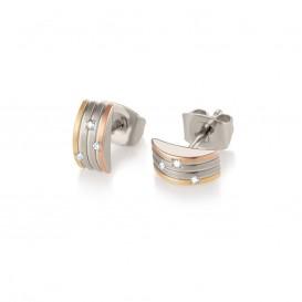 Boccia Titanium 05006-03 Oorknoppen Titanium Zilver-, goud- en rosékleurig