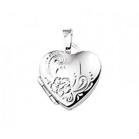 Medaillon Hart Gravure Zilver  14,5 mm x 14,5 mm
