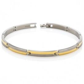 Boccia 03018-02 Armband titanium zilver- en goudkleurig