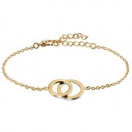 Boccia 03019-02 Figura Armband titanium goudkleurig