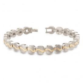 Boccia 03023-02 Armband titanium zilver- en goudkleurig 20 cm