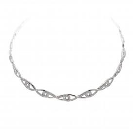 Zilveren ketting met zirconia 42 cm 103.6081.42