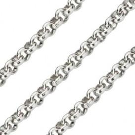 Quoins Ketting staal zilverkleurig Jasseron 60 cm QK-EN1