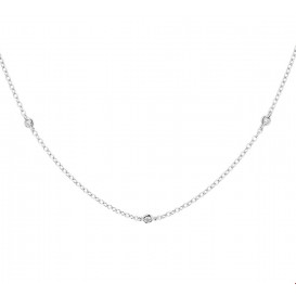TFT Collier Witgoud Diamant 0.13ct H SI 1,4 mm 41 - 43 - 45 cm