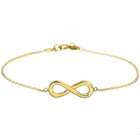 Armband Goud Infinity 1,0 mm 17.5 + 1 cm