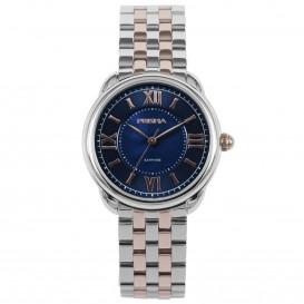 Prisma Horloge 1897 Dames Edelstaal Saffier Zwitsers Uurwerk P.1897 Dameshorloge 1