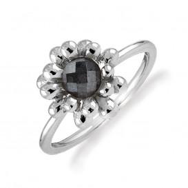 Rabinovich 65303030 Ring zilver geoxideerd met hematiet Maat 52 is 16.5mm