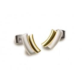 Boccia Oorbellen titanium zilver- en goudkleurig 0561-02