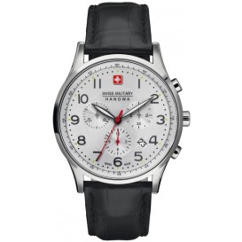 Swiss Military Hanowa Patriot met saffierglas 06-4187.04.001  Horloge