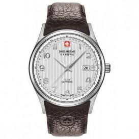 Swiss Military Hanowa 06.4286.04.001 Horloge Navalus staal-leder 45 mm