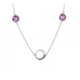 TFT Zilveren Ketting Synth. Amethyst 1,4 mm 41 + 4 cm