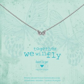 Heart to get N359BUT17S necklace butterfly silver together we will fly