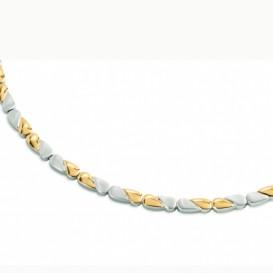 Boccia 08013-02 Ketting titanium zilver- en goudkleurig 45 cm