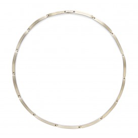 Boccia Ketting Titanium zilver- en goudkleurig 45 cm 08017-02