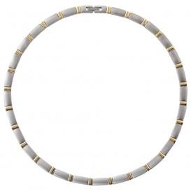 Boccia 08028-02 Ketting titanium zilver- en goudkleurig 49 cm