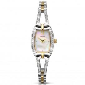Sekonda Horloge 2150 Dames Bicolor Strass SEK.2150 Dameshorloge 1