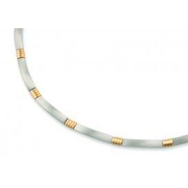 Boccia Ketting titanium bicolor 0877-02