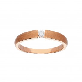 Glow 214.4000.56 Roségouden Ring - Mat Diamant