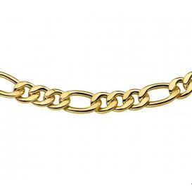 Zilgold Collier goud met zilveren kern Figaro 7 mm