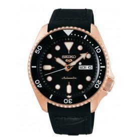 Seiko 5 Sports SRPD76K1 Herenhorloge automaat zwarte wijzerplaat 42,5 mm