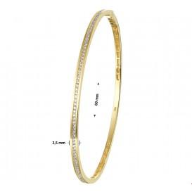 TFT Slavenband Goud Diamant 0.53ct H SI 2,5 X 60 mm