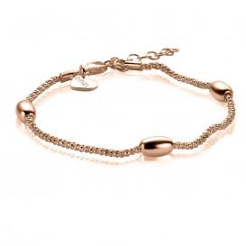 Zinzi ZIA1089R  Armband zilver Olijf rosekleurig 18-21 cm