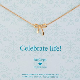 Heart to get N22BOW12R Celebrate life ketting rose