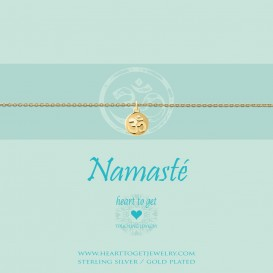Heart to get B261COH15G namaste bracelet coin Ohm goldplated