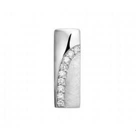 TFT Hanger Zilver gerhodineerd zirkonia en gescratcht 18,5 x 6 mm