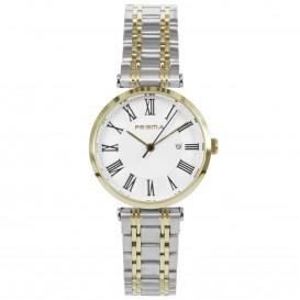 Prisma Horloge 1522 Dames Edelstaal Bicolor P.1522 Dameshorloge 1