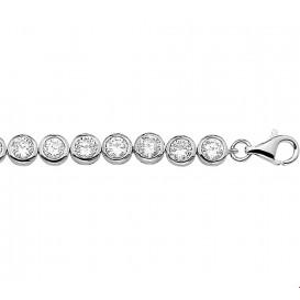 Tennisarmband Zilver Zirkonia 20 cm