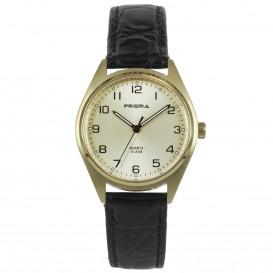 Prisma Horloge P.1556.186E Edelstaal Goud Leder P.1556 Dameshorloge 1