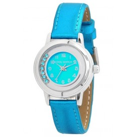 Coolwatch kinderhorloge 'Dazling Diamonds' aquablauw CW.212