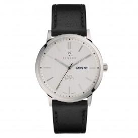 Renard Horloge RD381SS10VBK Elite Day Date Silver Black