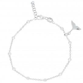 Lilly 105.6417.22 Enkelbandje Visstaart zilver 18-22 cm