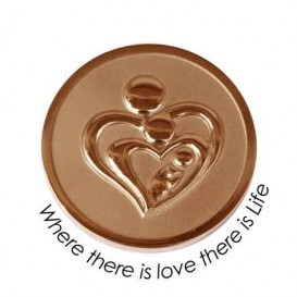 Quoins QMOZ-0M2-R Where there is love there is Life munt Medium