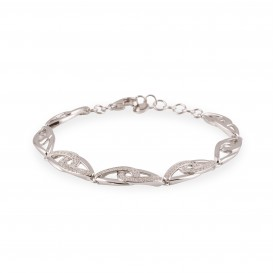 Elegance Schakelarmband zilver met zirconia 104.6081.19