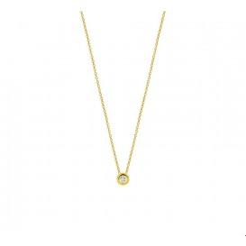 TFT Collier Geelgoud Diamant 0.01ct H SI 1,0 mm 41 - 43 - 45 cm