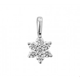 TFT Hanger Witgoud Ster Diamant 0.14 Ct.