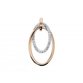 Elegance Zilveren Hanger Bicolor gerhodineerd Zirkonia 120.5413.00