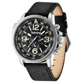 Timberland horloge Campton chronograaf staal/leder 13910JS/02