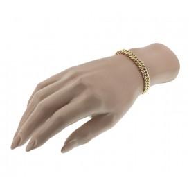 Zilgold Armband Witgoud Gourmet 7 mm 19,5 cm